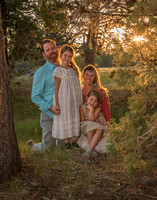 Woodland Sunset family portrait with young kids